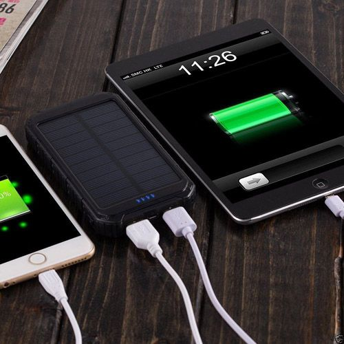 Solar Power Bank Pack Portable Usb Battery Charger For
