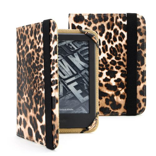 "Amazon Kindle 6"" E-Reader Leopard Case Cover"