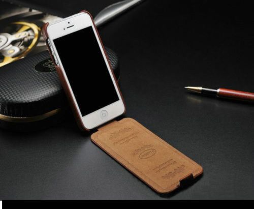 iPhone 4 4S Leather Flip Case Cover