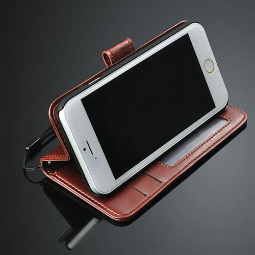 best website 3bd00 b46ea iPhone 5C Leather Wallet Stand Case Cover