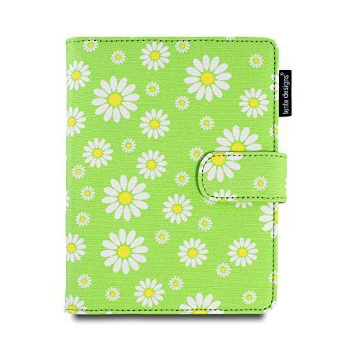 Ladies Canvas Kindle Case Floral Green Daisy Cover