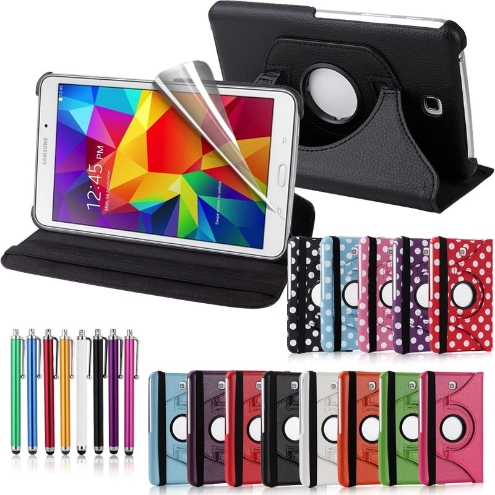 Samsung Galaxy Tab 4 8.0 360 Swivel Stand Case Cover